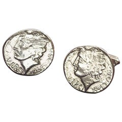 Antique Coin Cufflinks in Solid 9 Karat Gold