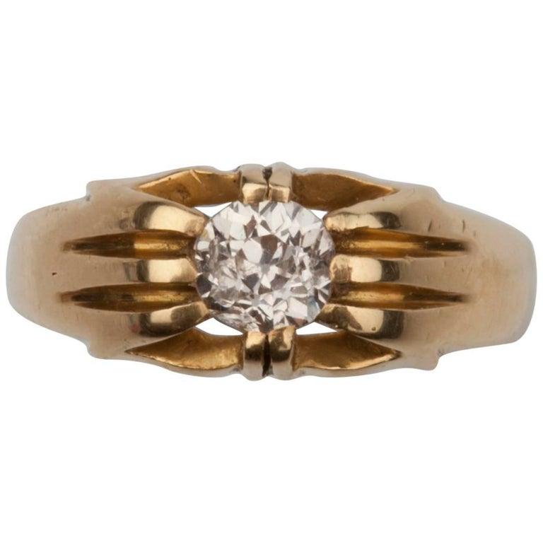 Victorian Old European Cut Diamond Signet Ring