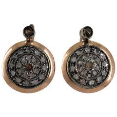 Art Deco 0.80 Carat Diamond Gold Clip-On Earrings