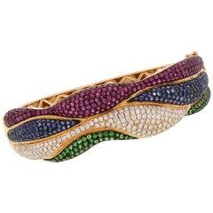 8.26 Carat Diamond Multi Gemstone Bracelet
