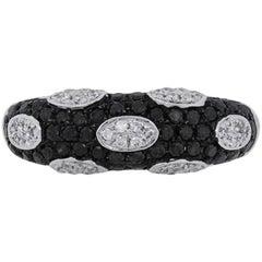 Black and White Diamond Pave Ring