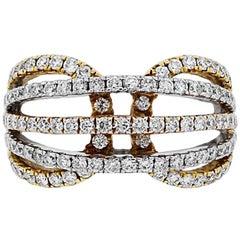 1.39 Carat Multi Row Diamond Ring