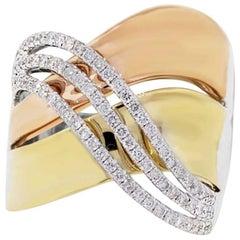 0.57 Carat Diamond Crossover Ring