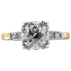 Mark Broumand 2.15 Carat Old European Cut Diamond Engagement Ring