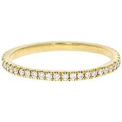 Vera I 18 Karat Yellow Gold Natural Pave Diamond Pinky Ring