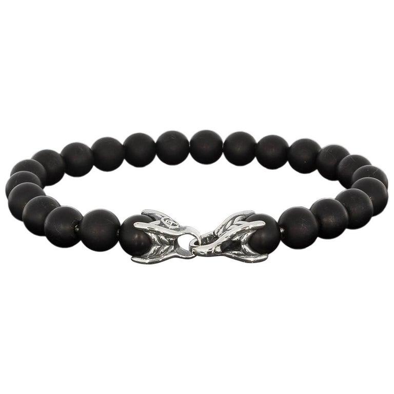 1bbcca80e01d1 David Yurman Black Onyx Spiritual Bead Bracelet