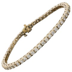 Rose Gold 5.00 Carat Prong Set Diamond Tennis Bracelet