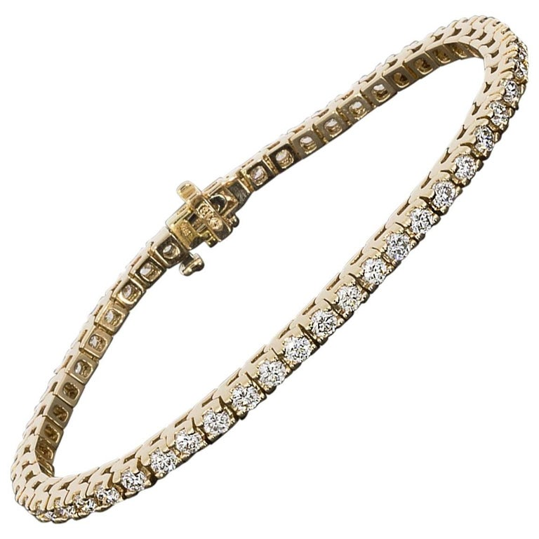 Rose Gold 5.00 Carat Prong Set Diamond Tennis Bracelet
