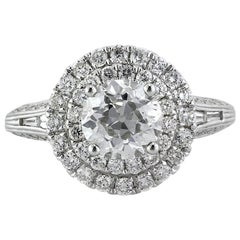 Mark Broumand 2.57 Carat Old European Cut Diamond Engagement Ring