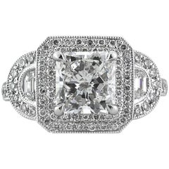 Mark Broumand 3.23 Carat Radiant Cut Diamond Engagement Ring