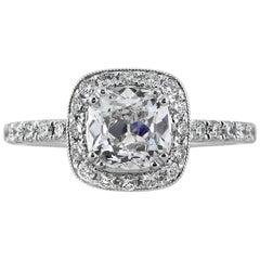 Mark Broumand 1.92 Carat Old Mine Cut Diamond Engagement Ring