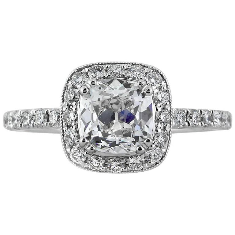 d1f9cbceed0 Mark Broumand 1.92 Carat Old Mine Cut Diamond Engagement Ring For Sale