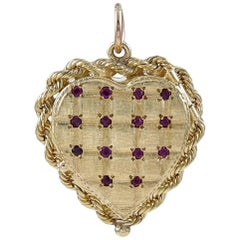 Gold Ruby and Sapphire Six Picture Locket