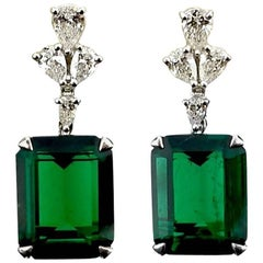 GRS Certified Emerald and Diamond Earrings