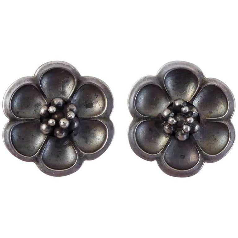 Georg Jensen Sterling Silver Clip on Earrings #67