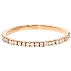 Vera I 18 Karat Rose Gold Natural Pave Diamond Pinky Ring