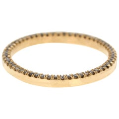 Velma 18 Karat Yellow Gold Natural Pave Grey Diamond Ring