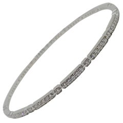 18 Karat White Gold Bangle with 1.90 Carat of Diamond from the Hex Collection