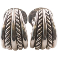 David Yurman Cable Collectibles Sterling Silver Hoop Earrings