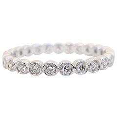 18 Karat White Gold Bezel Set Eternity Band 0.45 Carat of Diamond