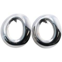 1980s Taxco Sterling Silver Earrings