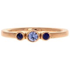 Petite Alice Ring 18 Karat Rose Gold Blue Sapphire