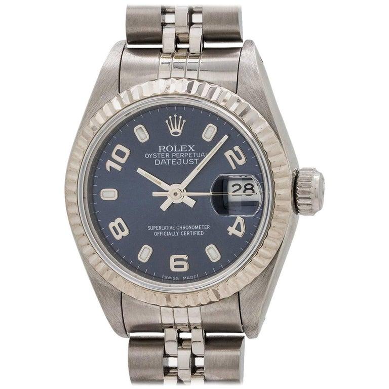 Lady Rolex Datejust Ref 69174 Blue Arabic Dial, circa 1993