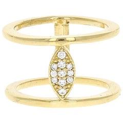 Nova II Ring 18 karat Yellow Gold Natural Pave Diamond