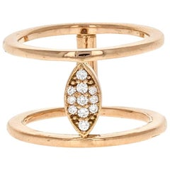 Nova II Ring 18 Karat Rose Gold Natural Pave Diamond