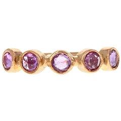 Zoe Ring 18 Karat Rose Gold Pink Rosecut Sapphire
