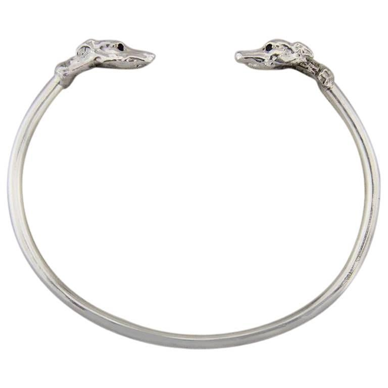 Greyhound Bangle in Sterling Silver