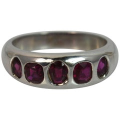 Certified No Heated Burmese Ruby 18 Carat White Gold Ring