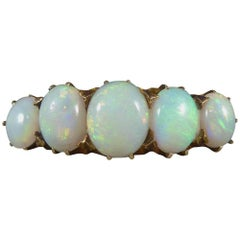Late Victorian Five-Stone Opal 18 Carat Gold Ring