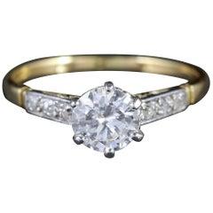 Antique Edwardian Diamond Solitaire Engagement Ring, circa 1915