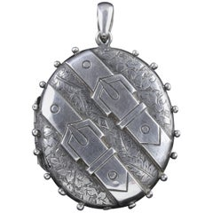 Antique Victorian Silver Locket Dated 1883