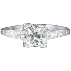 Antique Art Deco Diamond Engagement Ring Solitaire, circa 1920
