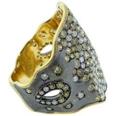 Sprinkled Freeform Fancy Color Diamond Ring