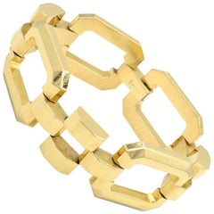 Tiffany & Co. Retro 14 Karat Yellow Gold Link Bracelet, circa 1950s