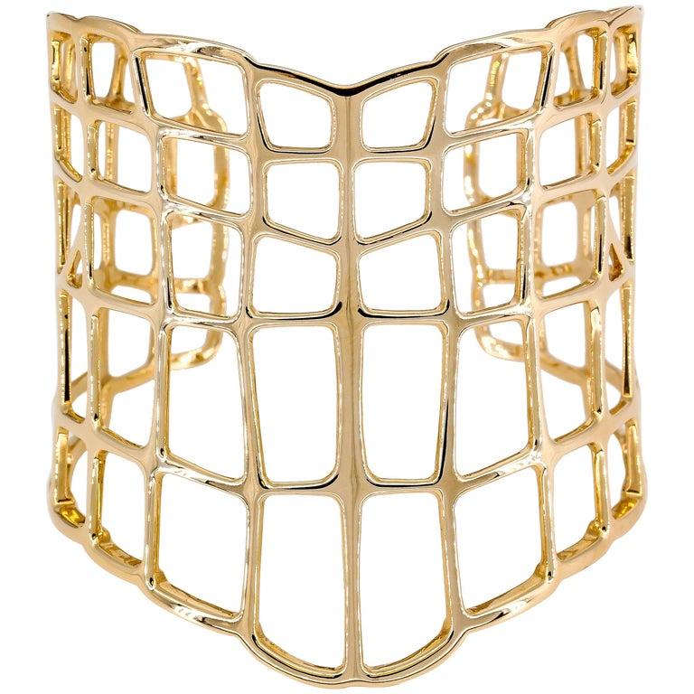 Hermes Niloticus Ombre Rose Gold Cuff Bracelet