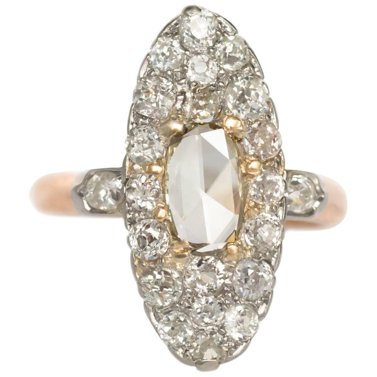 .45 Carat, Diamond Yellow Gold Engagement Ring