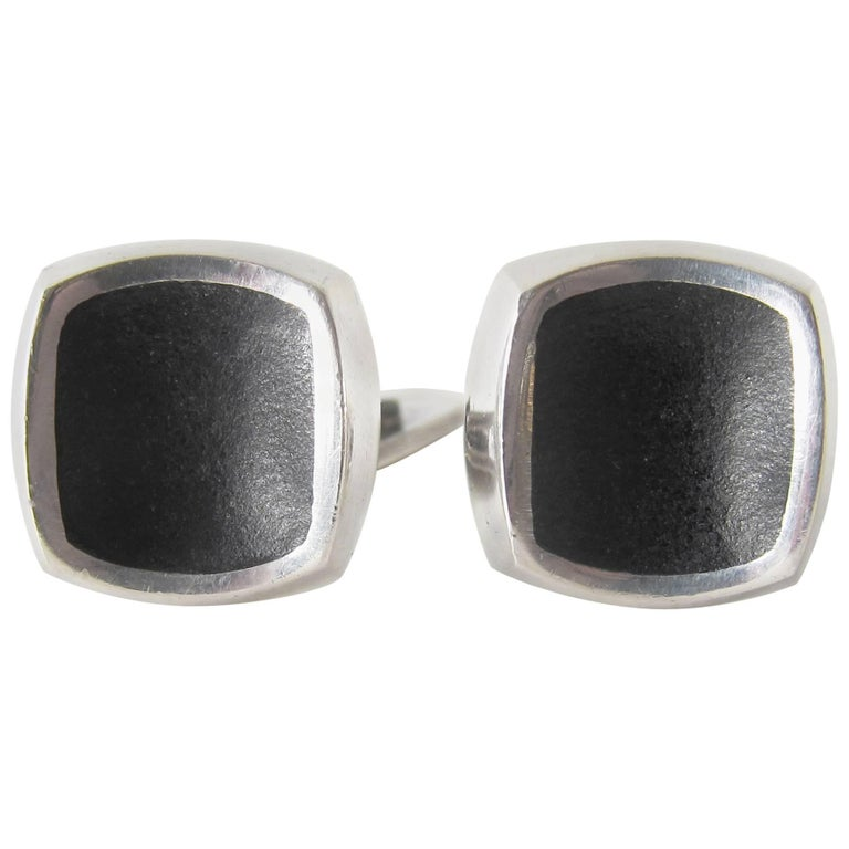 Thor Selzer Sterling Silver Danish Modernist Cufflinks For Sale