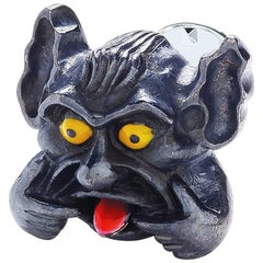Sterling Silver Gargoyle Lapel Pin