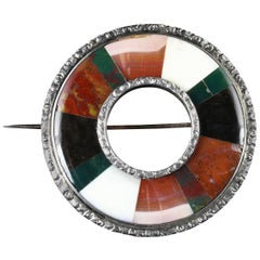 Victorian Scottish Agate Brooch, circa 1900