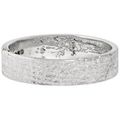 Men's Textured Platinum Ring by Allison Bryan