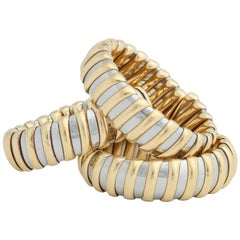 Bulgari Steel Yellow Gold Bangles