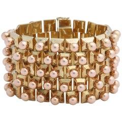 Retro Three Dimensional Rose Gold Bracelet
