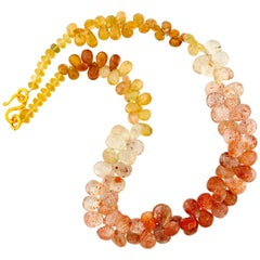 Imperial Topaz Petals Necklace
