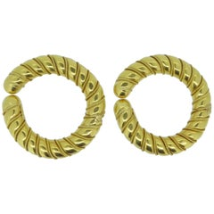 Lalaounis 20/22 Carat Yellow Gold Ropetwist Hoop Earrings