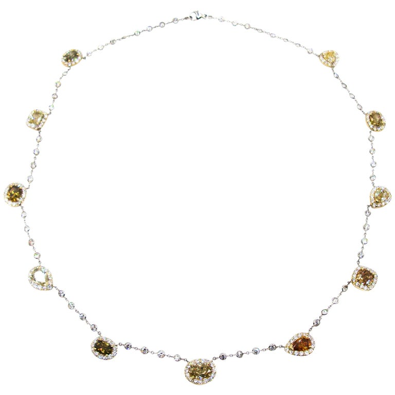 Natural Colored Diamond Necklace