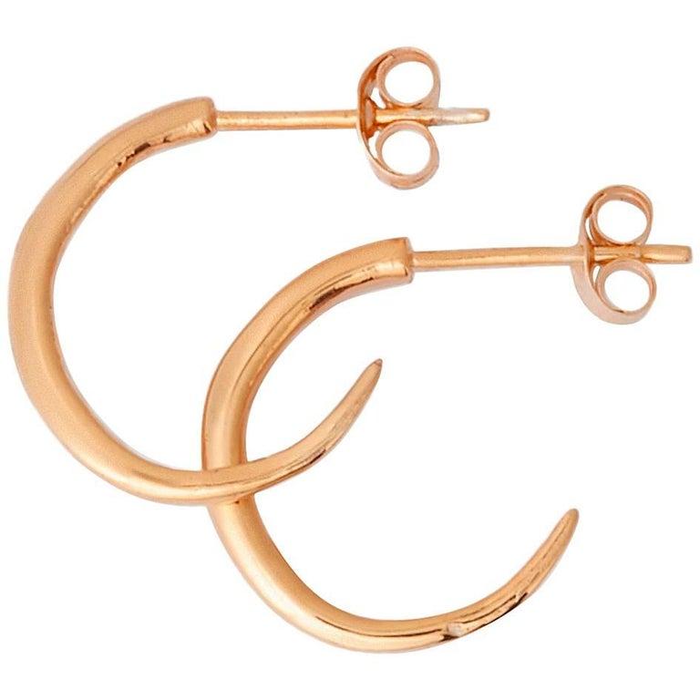 Rustic Rose Gold Hoop Earrings